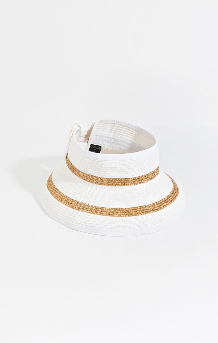 Roll up visor, white