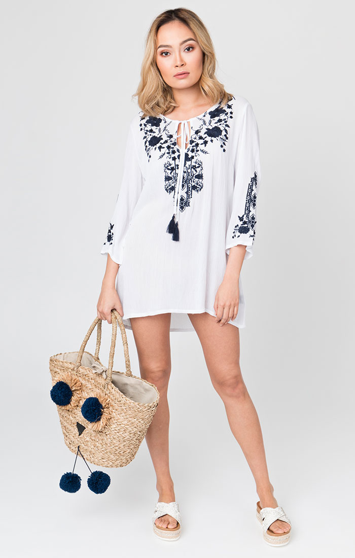 Hermosa Tunic White/Navy-0