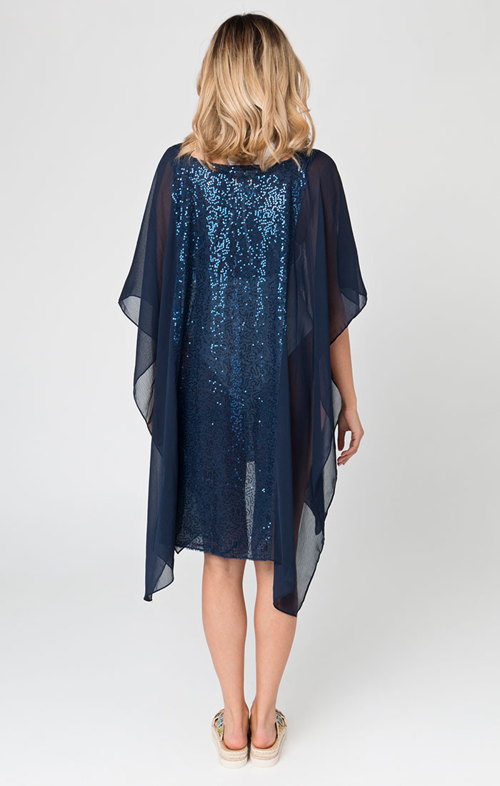 Navy sequin beach cover ups