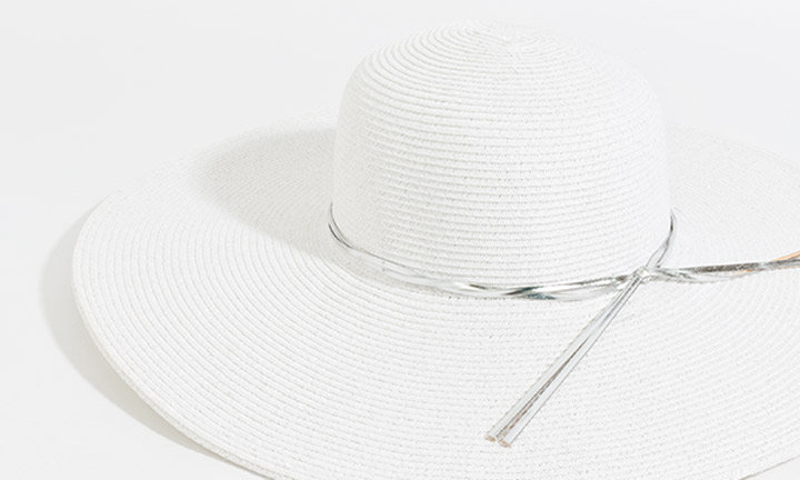 Adelaide Hat White/Silver-7833