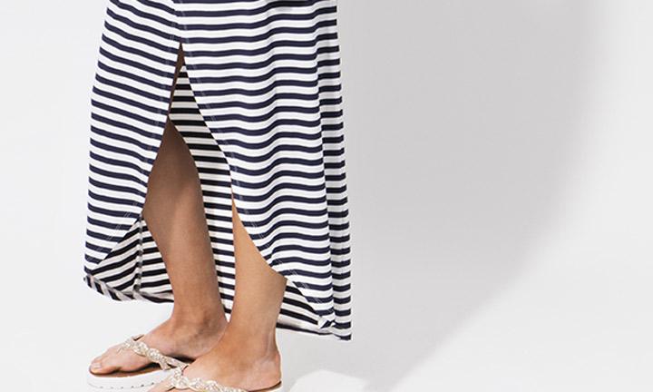 Allure Maxi Skirt Navy/White-7895