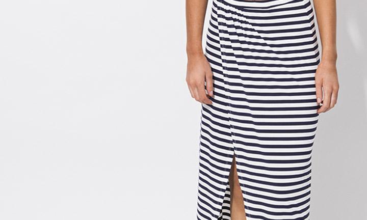 Allure Maxi Skirt Navy/White-7896