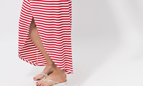 Allure Maxi Skirt Red/White-7904