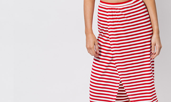 Allure Maxi Skirt Red/White-7905