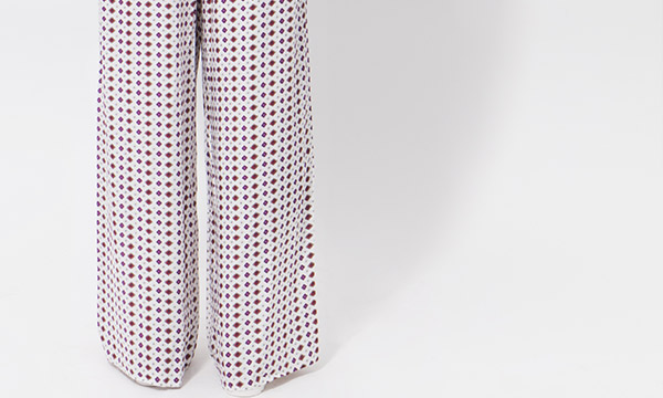 Bliss Trousers Pink/White-8073