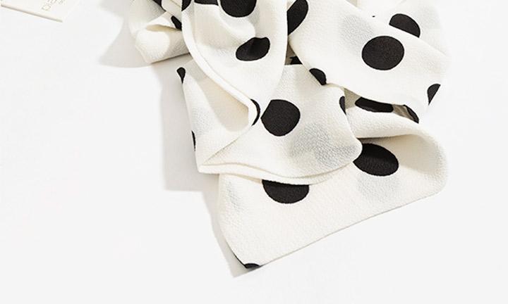 Calinda Scarf White/Black-8540