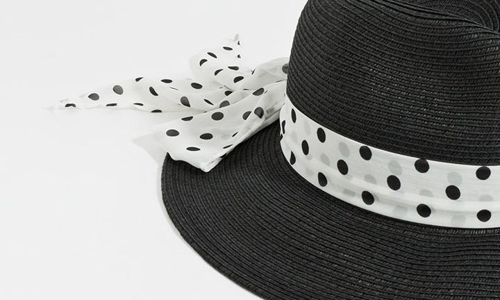 Carmen Hat Black/White-7866