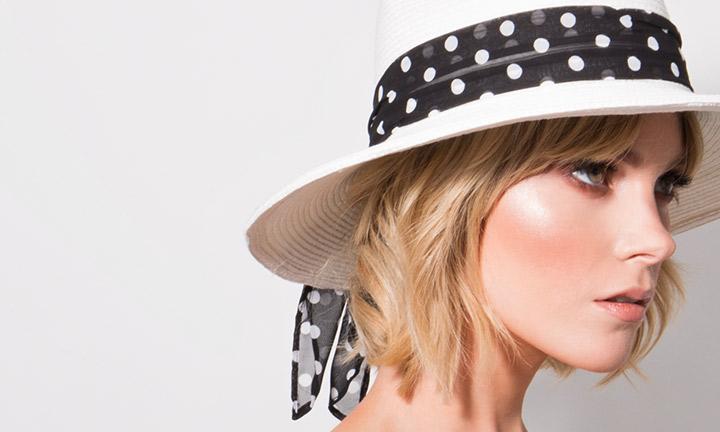 Carmen Hat White/Black-7884