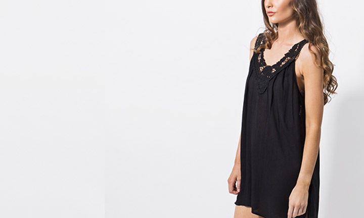 Casablanca Beachdress Black-7791