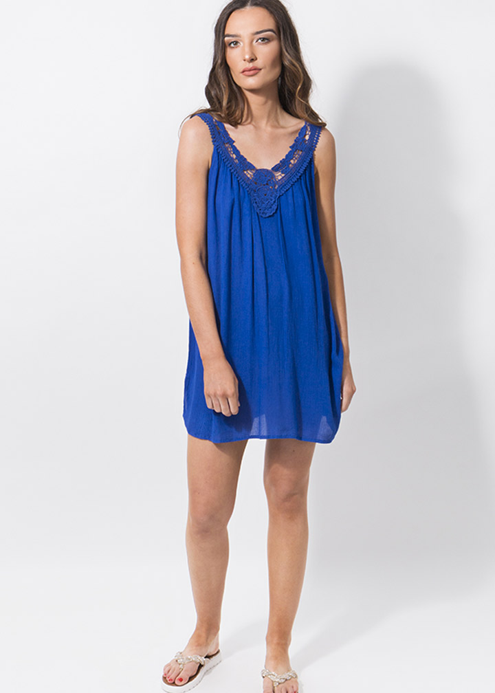Casablanca Beachdress Blue-0