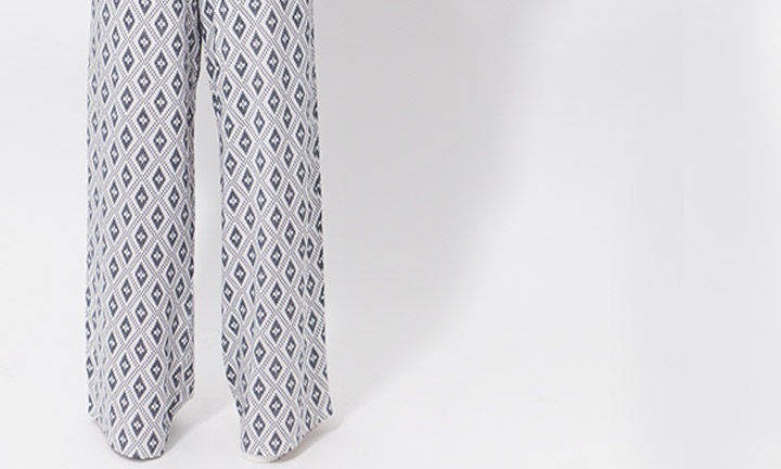 Elviria Trousers White/Navy-8124