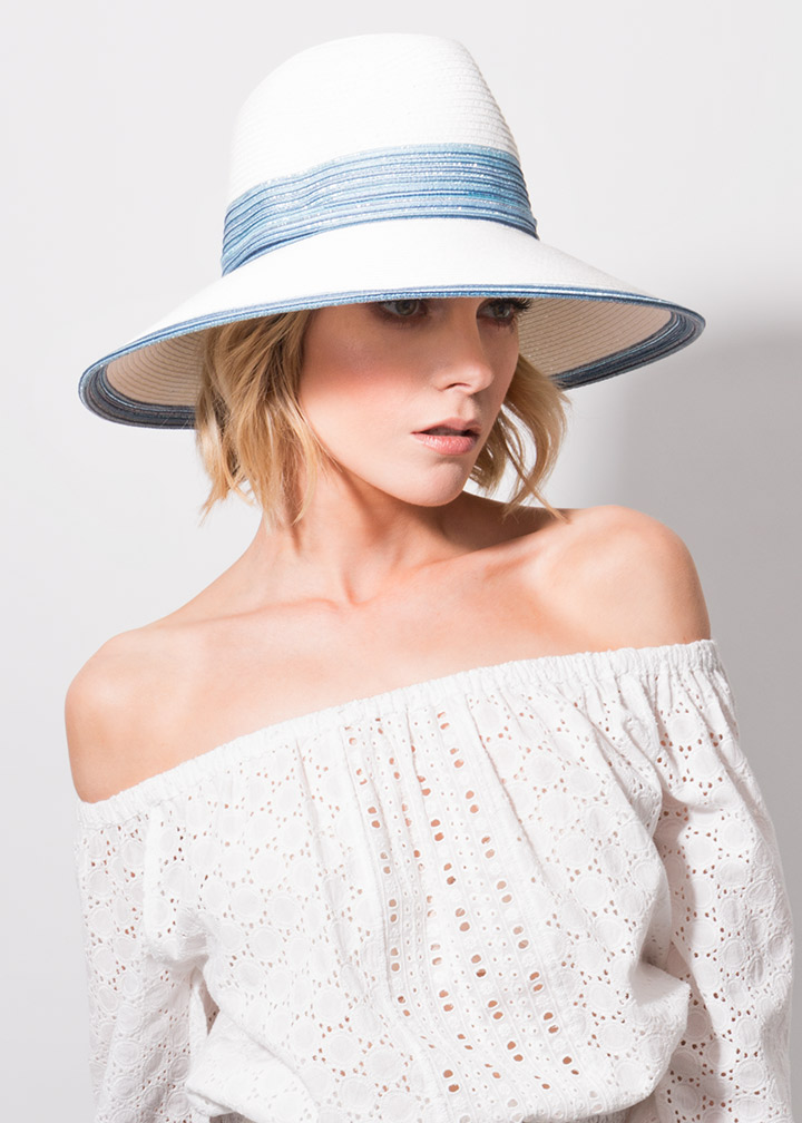 Faro Hat White/Blue-0