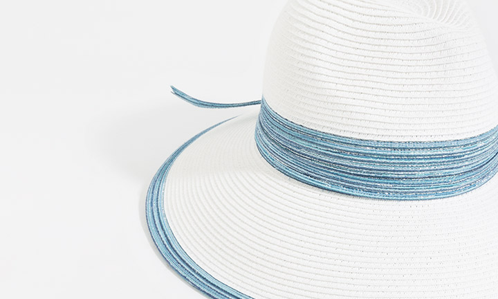 Faro Hat White/Blue-8054