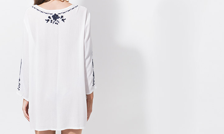 Hermosa Tunic White/Navy-8013
