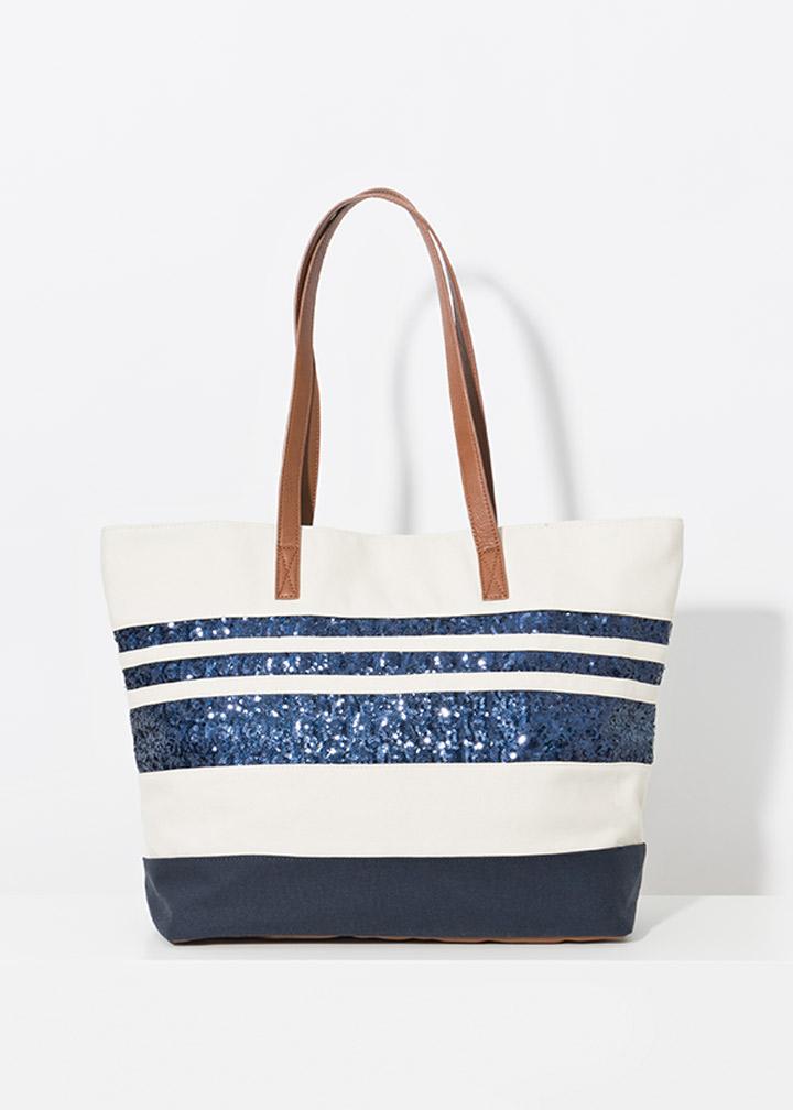 Milos Bag Ivory/Navy-0