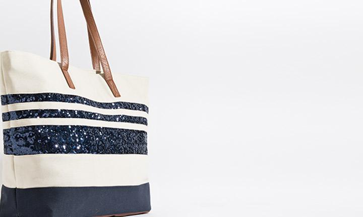 Milos Bag Ivory/Navy-8099
