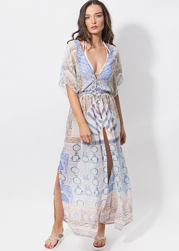 Mimoza Maxi Dress Blue-0
