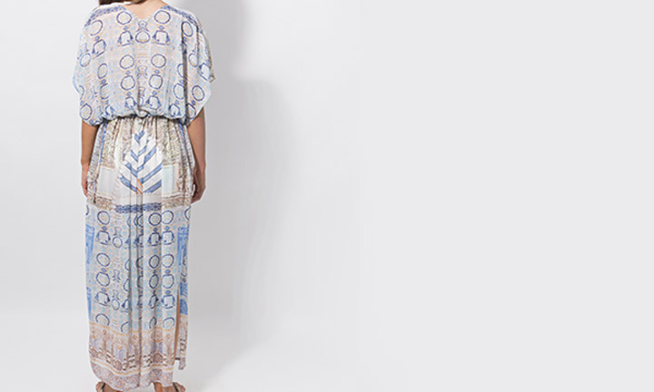 Sheer blue beach maxi dress
