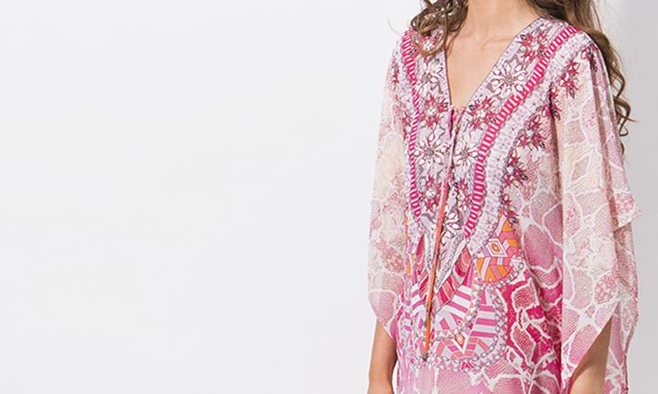 Monteray Poncho Pink-8186