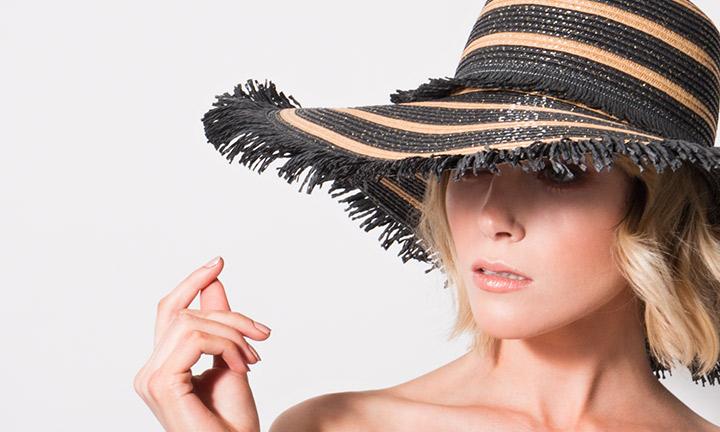 Mykonos Hat Black/Sand-8010