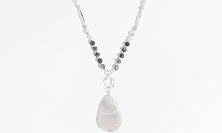 Nova Necklace Blue/Grey-8637