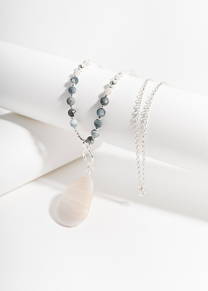 Nova Necklace Blue/Grey-0