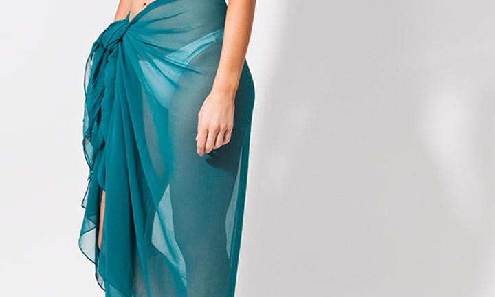 Classic sarong wrap, green