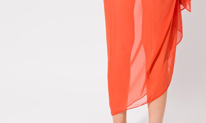 Classic sarong wrap, orange