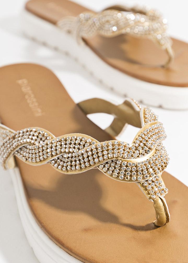 Sandrine Shoe Gold-0