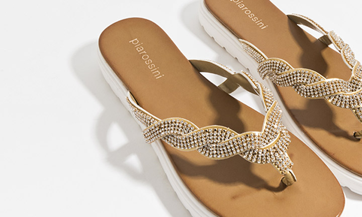 Sandrine Shoe Gold-8091