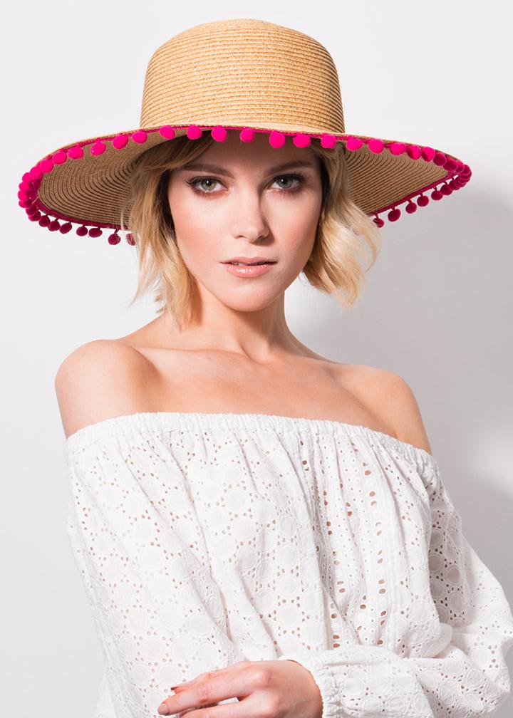Somer Hat Natural/Pink-0
