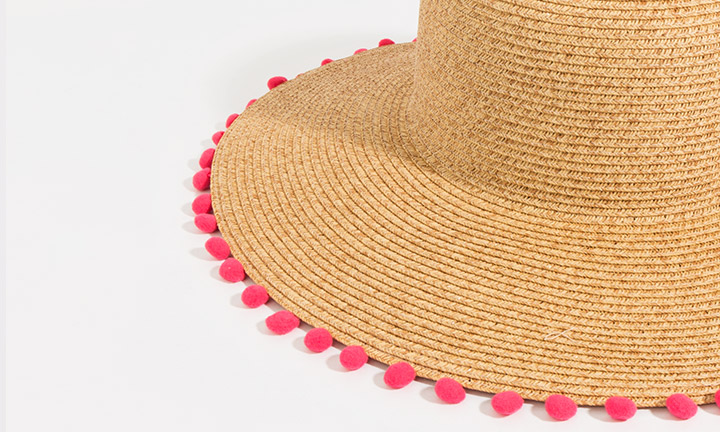 Somer Hat Natural/Pink-8081