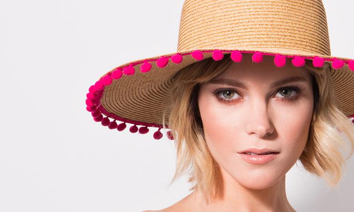 Somer Hat Natural/Pink-8082
