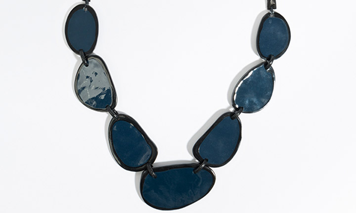 Tulsa Necklace Navy/Black-8646