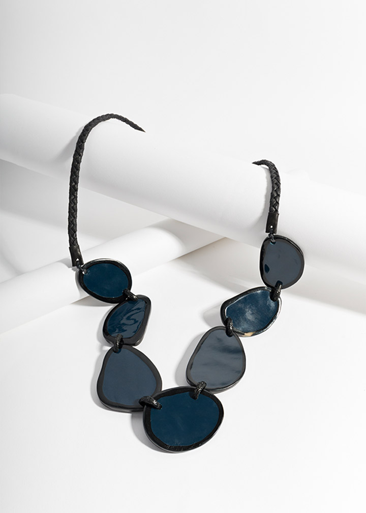 Tulsa Necklace Navy/Black-0