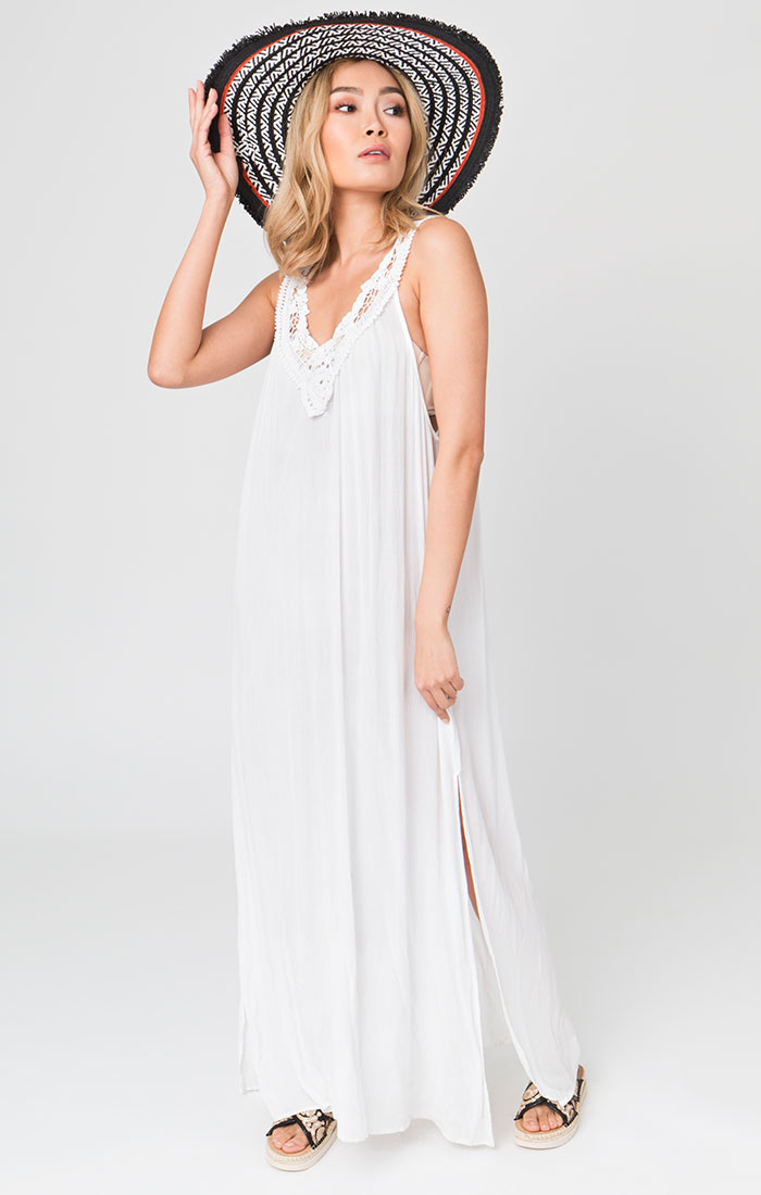 Casablanca Maxi Dress White-0