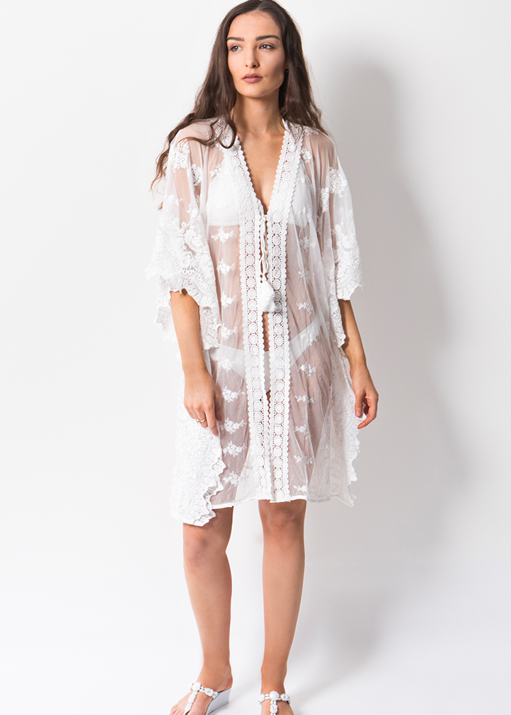 Zante Cover Up Midi White-0