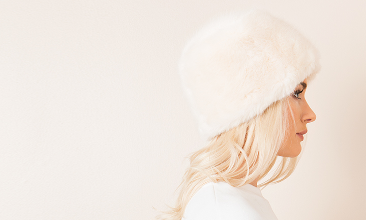 Soft and warm faux fur hat with a luxurious fleece lining