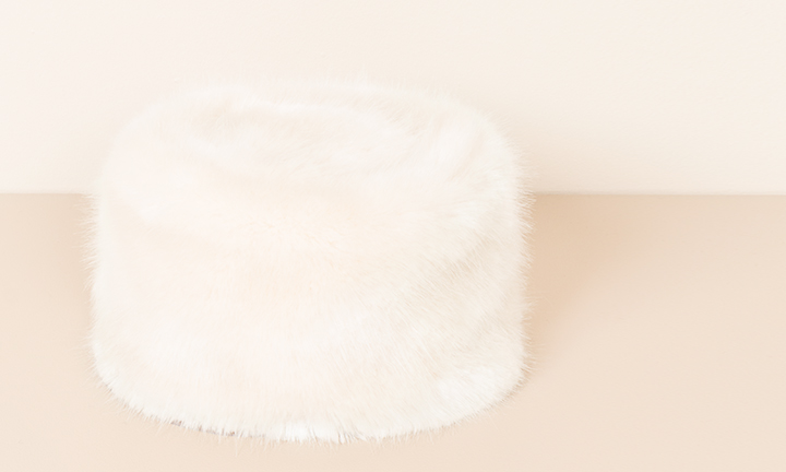 Russian style faux fur hat with a soft fleece lining