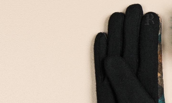 Nikki tartan multi-coloured Gloves-10199