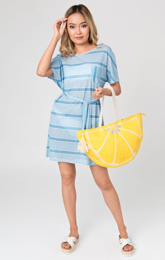Large lemon beach bag