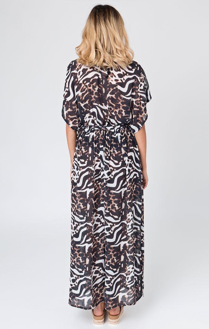 Animal print beach maxi dress