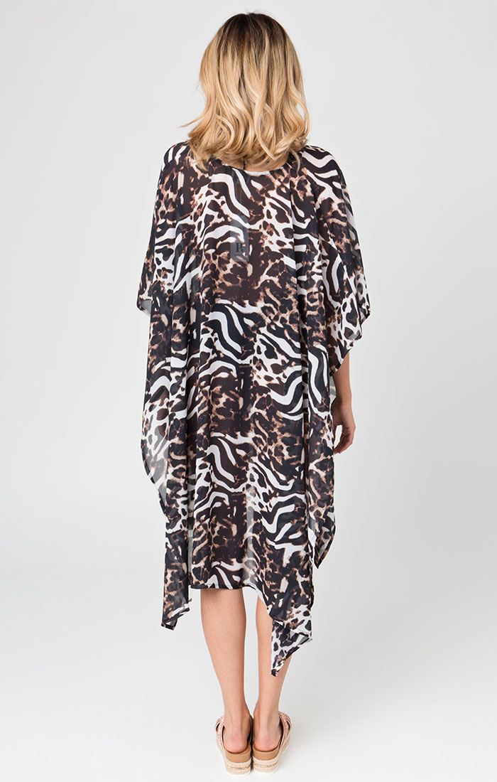 Animal print beach cover up