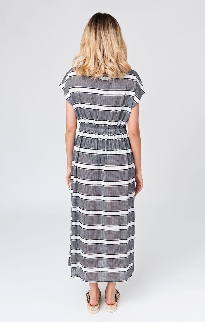 black and white maxi beach dress
