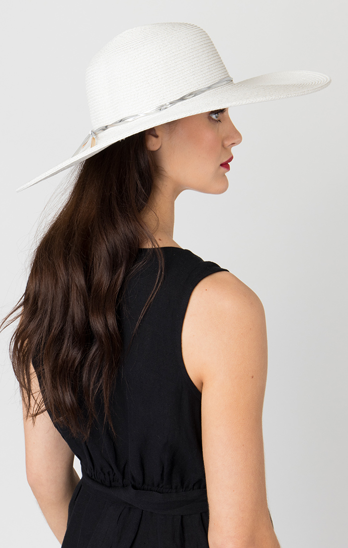Adelaide Hat White/Silver