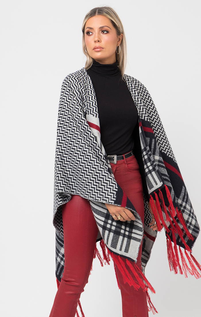 Alice Wrap - Black/White/Red