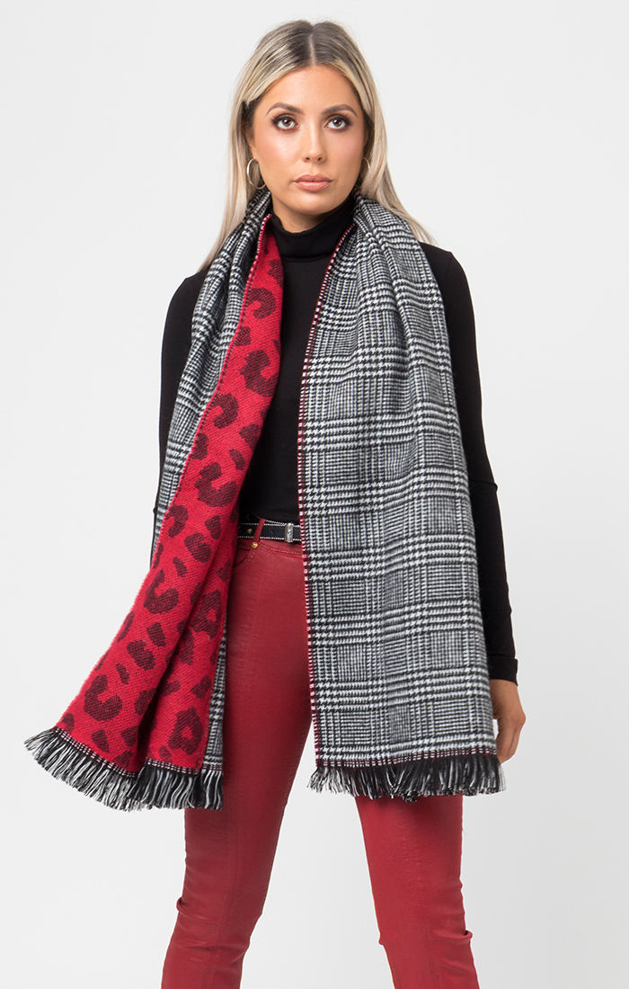 Briar Scarf - Black/Red