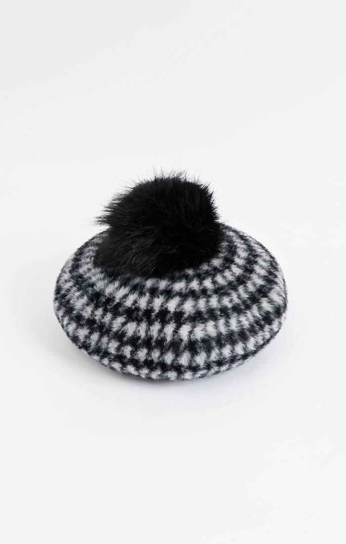 Ceci Beret - Black/White