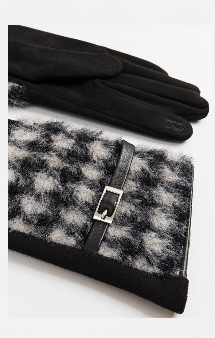 Ceci Glove - Black/White