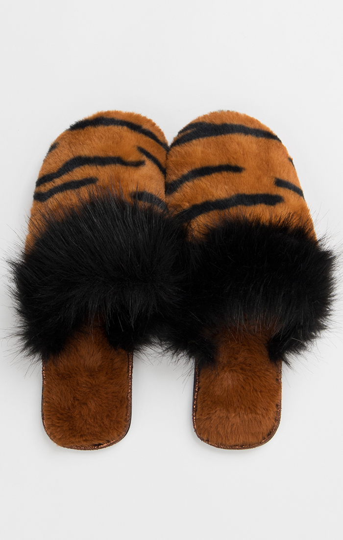 Fran Slippers - Tiger